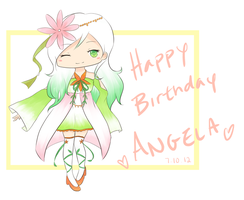 HBD ANGELA by bananasaurr