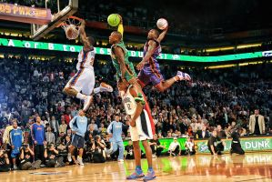 Nate Robinson 3x Dunk Champion by rhurst