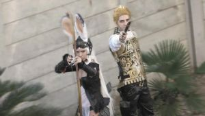Balthier and Fran by drkitsune