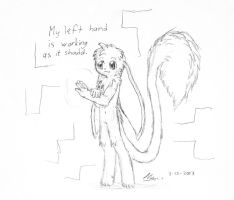 More left-handed drawing by MarwanGreenCritter