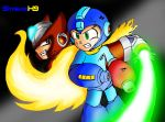 MegaMan VS Zero by StreamX9