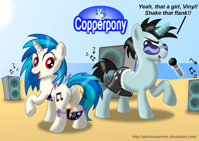 Coppertone Vinyl Scratch by AleximusPrime
