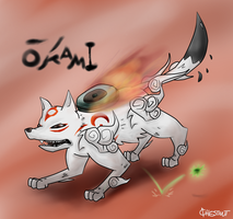 okami amaterasu by ChestnutFeraligatr