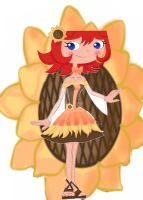 +Commission+::sunflowers dress:: by momochanx6