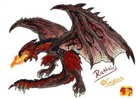 Rathalos, The Wyvern King by Vagrant-Verse