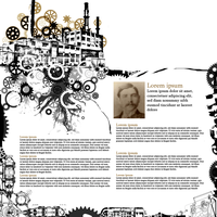 Steampunk Website Layout by Dezmodus