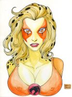 Cheetara watercolor commission by mdavidct