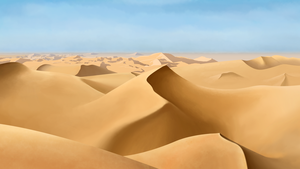 Sand Dunes on a Clear Day by theDisappointment