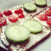 267 Crackers and Vegan Cheese by DistortedSmile