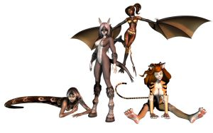 All my Anthros by ZoeMariePaige