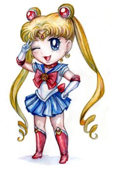 Chibi Sailor Moon by RavenCorona