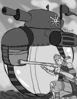 Commission: Soldier and Bubble Tank by CaseyLJones