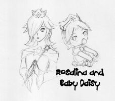 Ten Sketches - Rose and Daisy by EmeraldHearts
