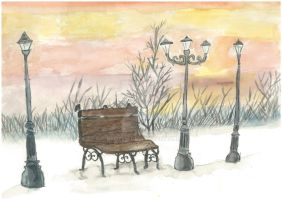 Winter Park Bench by BroYen
