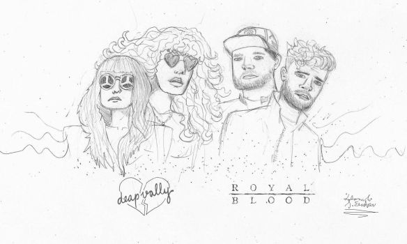 Deap Vally and Royal Blood by DaniloEscobar