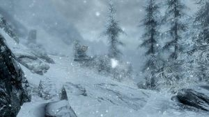 Snow in Skyrim by loloalien
