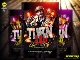 Turn Up Flyer Template PSD by Industrykidz