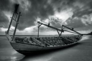 Cambodia - Ghost ship by lux69aeterna