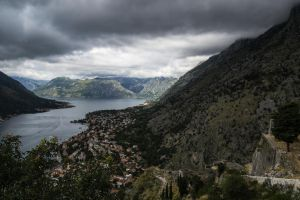 The storm is gathering above the Kotor bay by An-Drake