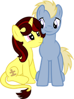 Puzzle and Thunder by Vector-Brony