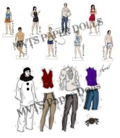 Morganville Vampires Paper Dolls by jeminabox