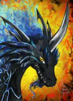 Blue Fire Dragon Manga Style! by HavocGirl