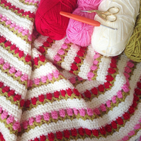 Crochet Tulip Stitch Blanket by Kelsmelissa