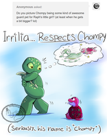TMNT - Irrilia vs Chompy by Myrling