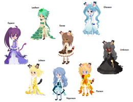 Eevee-lution Free Adoptables (CLOSED by Petpettails123