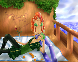 Zoro and Nami for 14-02-211 by LaFoxtriel