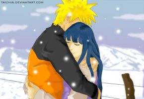 Hug me... It is cold--Naruhina by Taichia