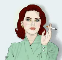 . cigarette killed the pinup . by frozenfingerz