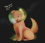 Dog in space the picture by SaucyMcFuzzy
