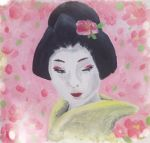 Geisha Oil painting on canvas by Warm-Bunny