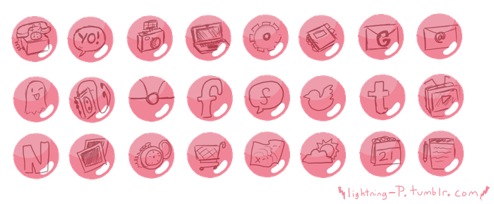 Rose phone theme icons by LightningP