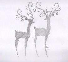 Reindeer by Philanthropic-Racoon