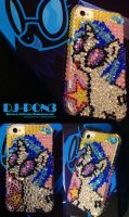 DJ-PON3 Custom iPhone Rhinestone Case by slifertheskydragon