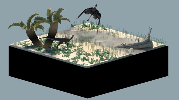 Low poly Morrison formation diorama by tepuitrouble