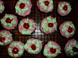 Chocolate Cherry Blossom Cupcakes by InkArtWriter