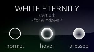 White Eternity Start orb - for Windows 7 by XprSS
