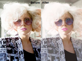 Lady Gaga edit Before+After 2 by ItsCrazyConnor