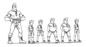 Character Design 2 Inks by ahmettorun