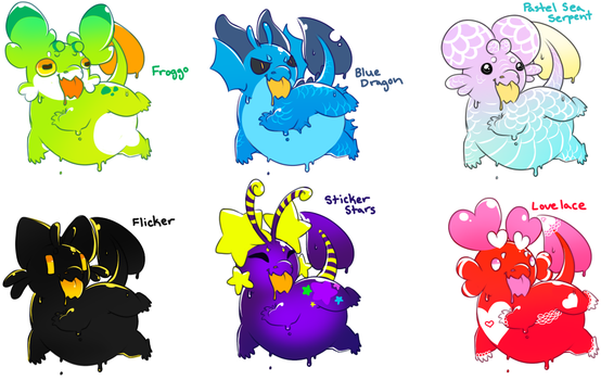 Axolgooeys! 3/6 Available by PudgeHen