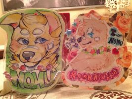 Nomu badges! by Kookapurra