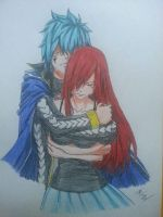 Jellal and Erza - A much needed hug... by PaleSun