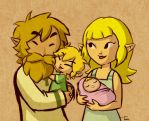 Link and Aryll's Parents by BeagleTsuin