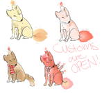 CANDLE CANINE CUSTOMS ARE OPEN by Squid-Coffee