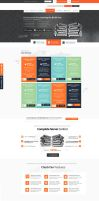Hosting Company Web Design by vasiligfx