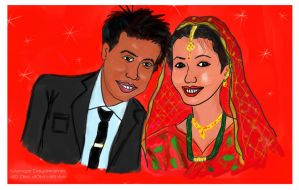 Meira weds Sunny by sumangal16