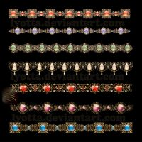 Ornaments design elements color LZ 28 by Lyotta